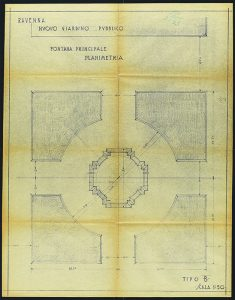 ASCRa, Busta speciale 130 f. 1 piante Arata prog. fontana principale